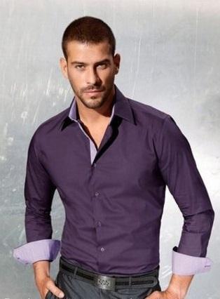 Мужская сорочка  Италия c вставками