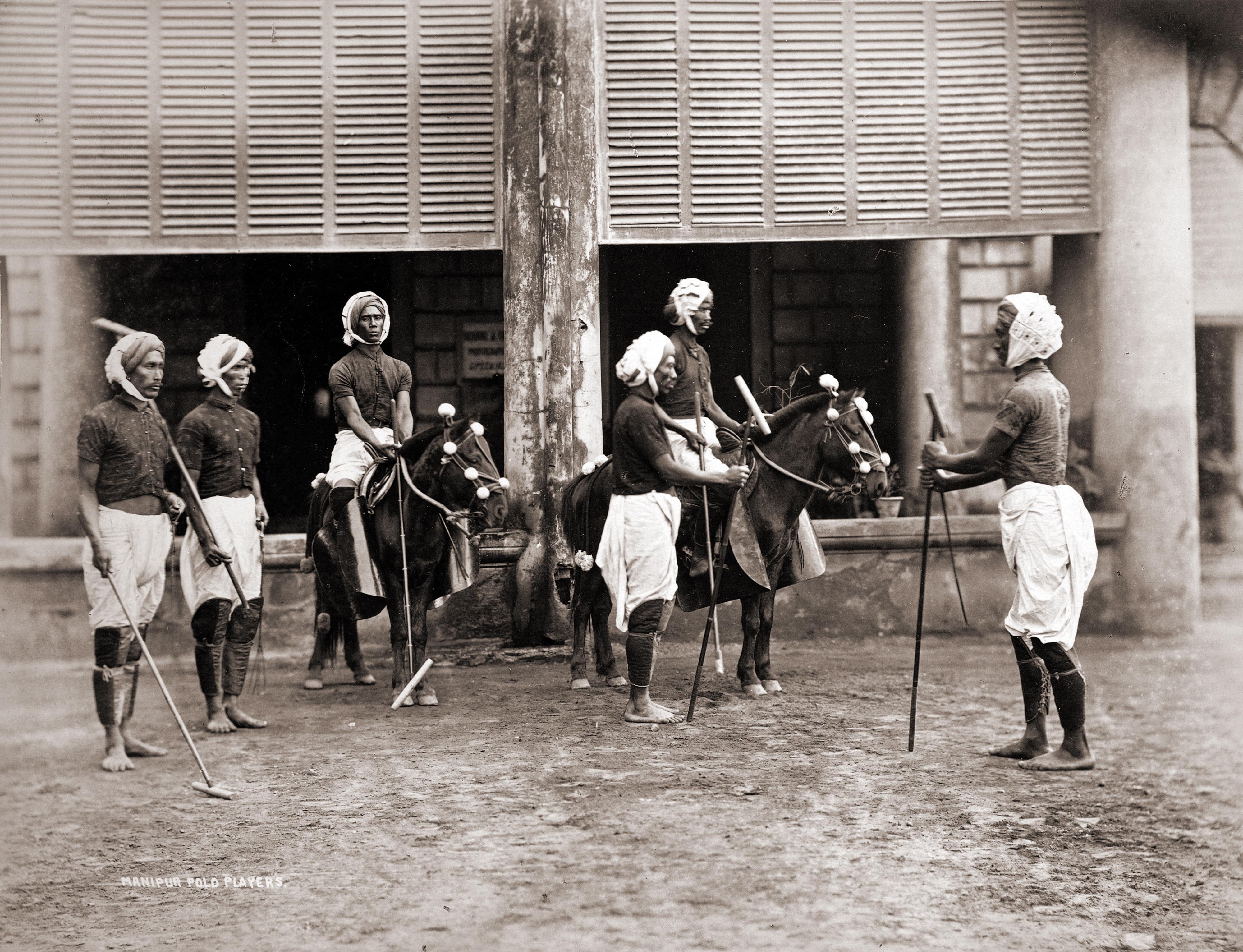 Игроки в поло Индия XIX век