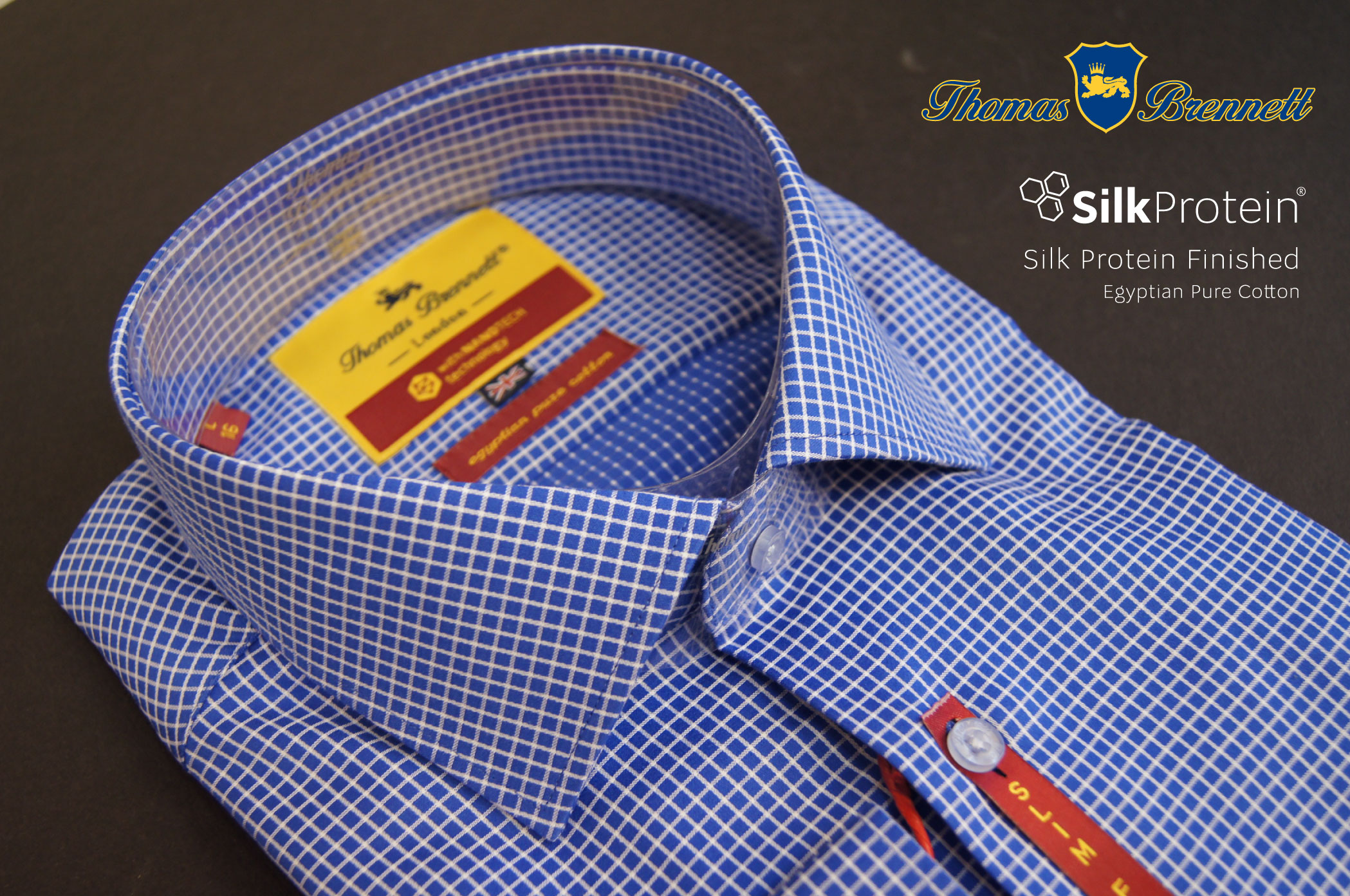 Мужская сорочка Thomas Brennett c Silk Protein