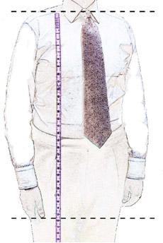 Замеры длины тела мужчины для выбора мужской рубашки